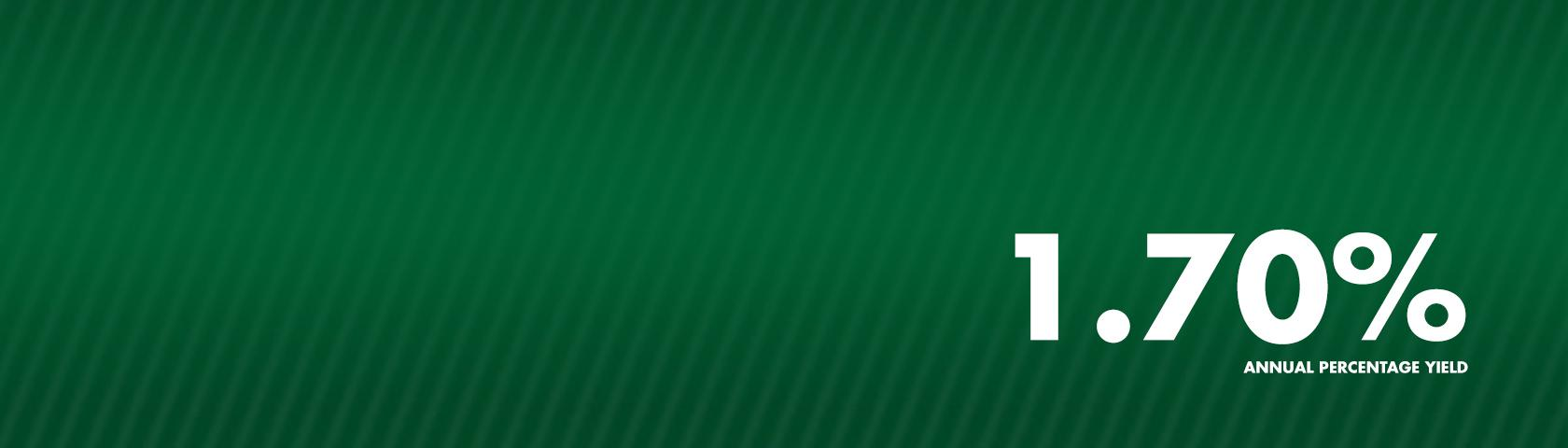 Green Background with 1.70% APY