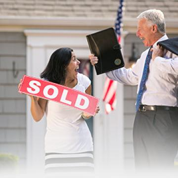 Woman buying her first house