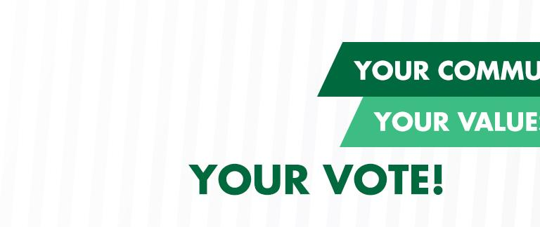 Your Community, Your Values, Your Vote